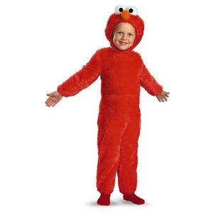 NWT Sesame Street Elmo Plush Deluxe 3-4T Costume